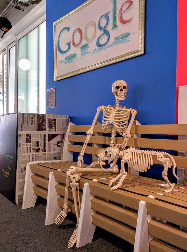 Skeletons At The Google Mexico Office
